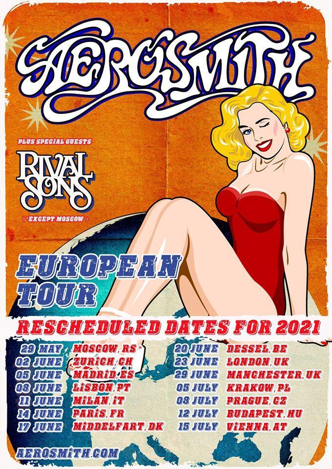 Aerosmith euroipean tour 2021