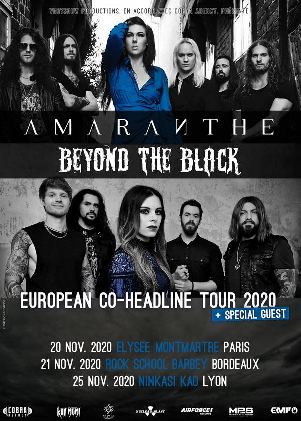 Amaranthe beyond the black france tour 2020