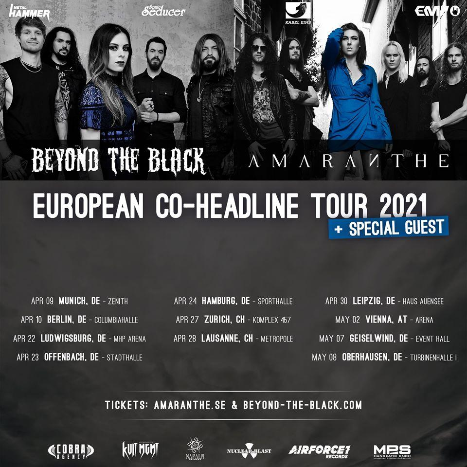 Amaranthe beyond the black tour 2021 2