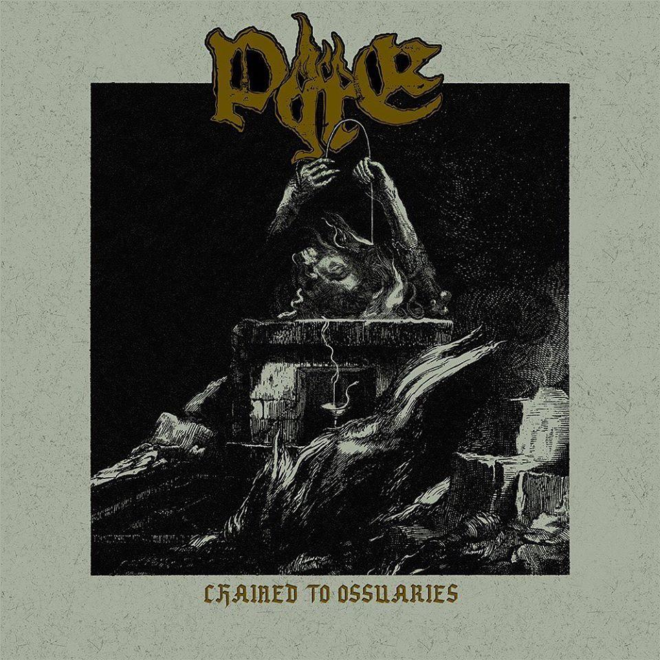 Chained to ossuaries pyre