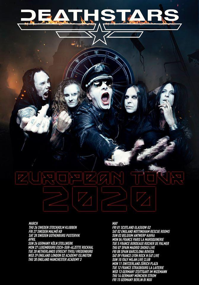 Deathstars europe tour 2020