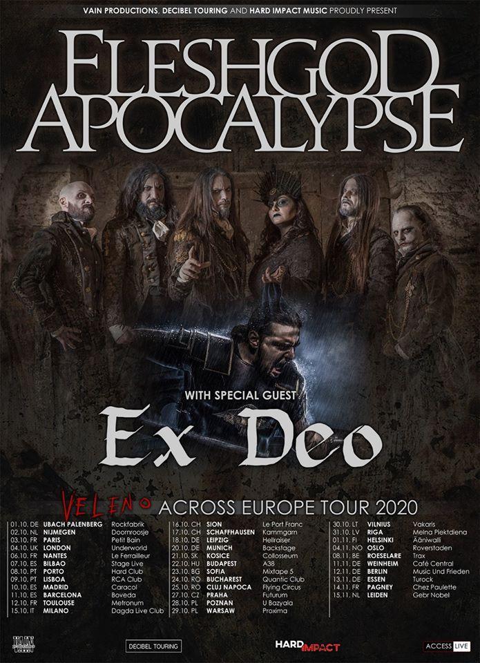 Fleshgod apocalypse europe tour 2020