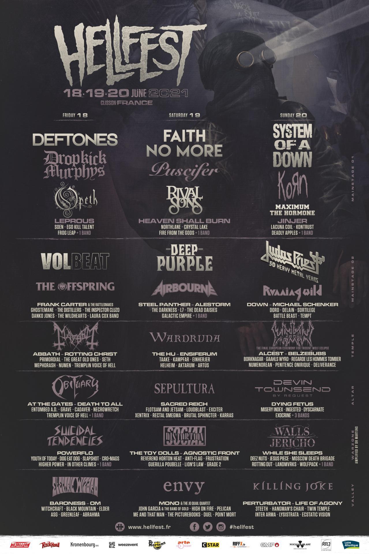 Hellfest 2021 line up
