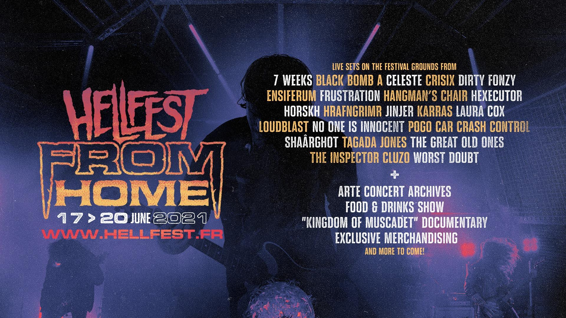 Hellfest from home 2021 line up banniere