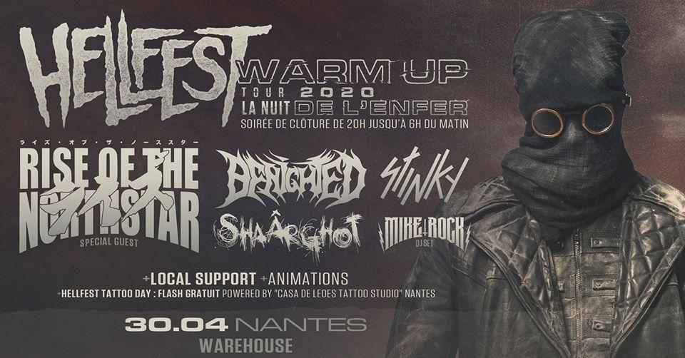 Hellfest warm up tour 2020 nantes