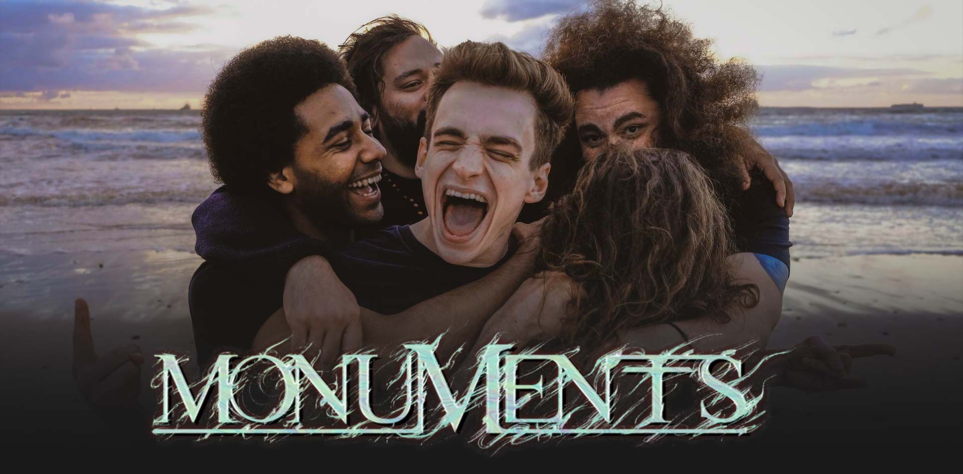 Monuments band promo banner logo thin