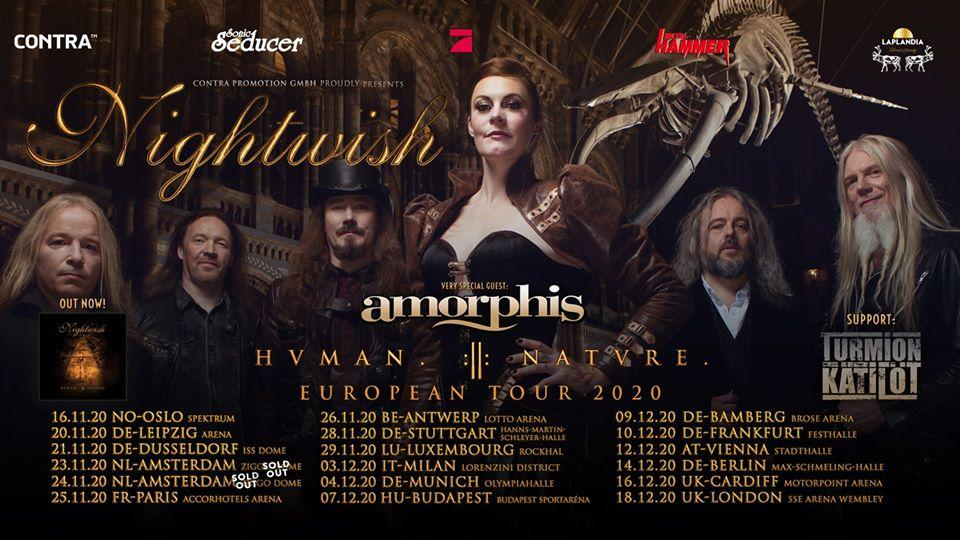 Nightwish european tour 2020