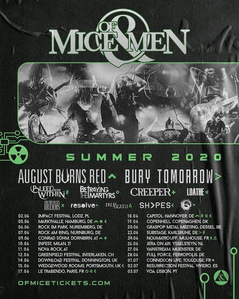 Of mice men summer tour 2020