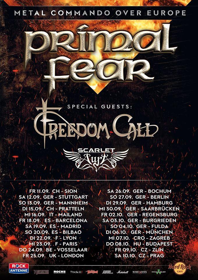 Primal fear europe tour 2020