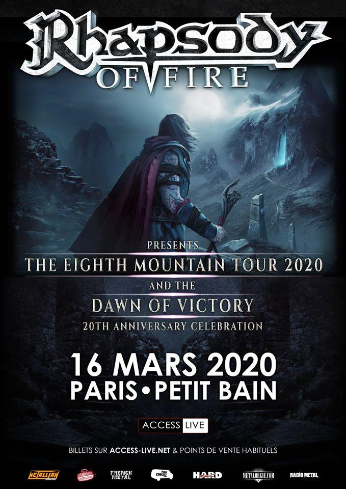 Rhapsody of fire paris 2020