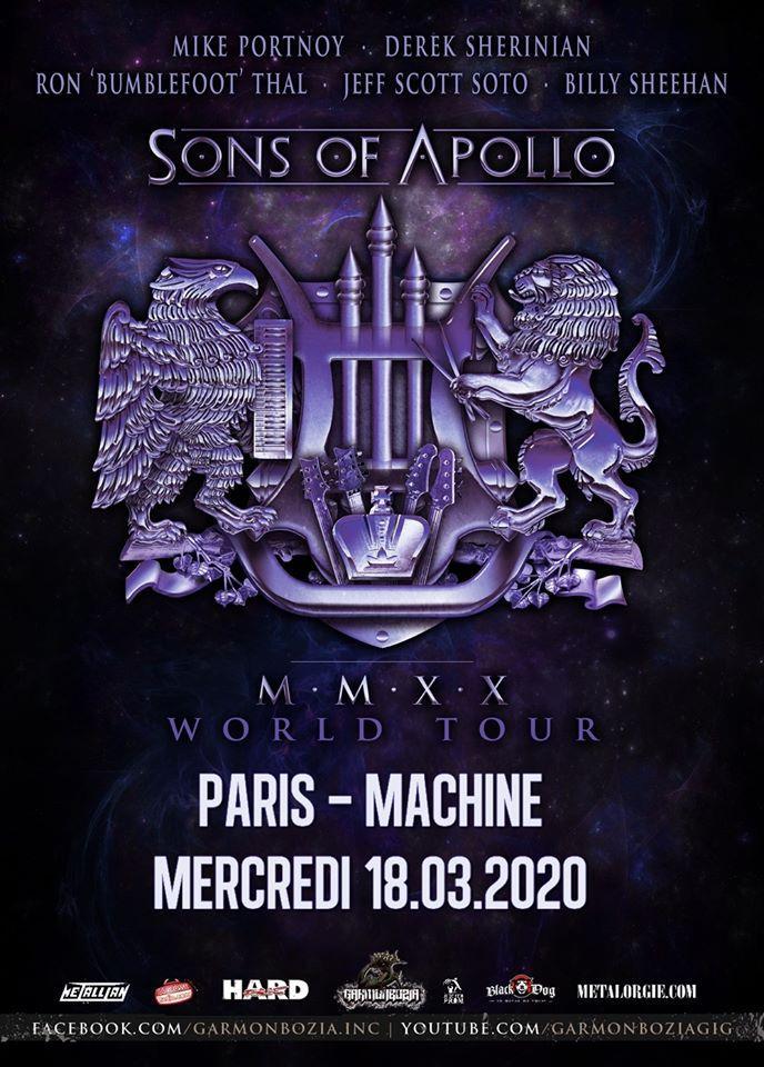 Sons of apollo paris 2020